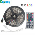 10M 5M RGB LED Strip 5050 set with IR Remote Controller DC 12V SMD 60leds/M non waterproof 10M 600 LEDs RGB tape LED Ribbon