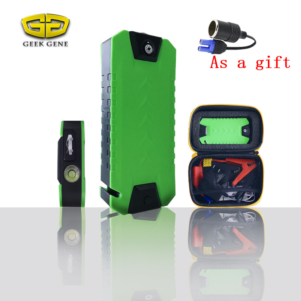 Sales Promotion <font><b>Portable</b></font> Car Battery Charger Starting Car Jump Starter Booster <font><b>Power</b></font> Bank 12V Auto Best quality Light-weight