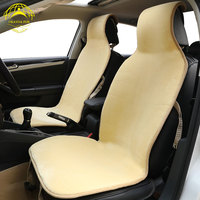 OKAYDA 2018 Spring New Fur Car Seat Covers Universal Faux Fur Car Styling Lada Car Seat
