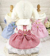 Roses To Decorate Summer Dog Princess font b Skirt b font Dog Dresses Puppy Clothing Luxury