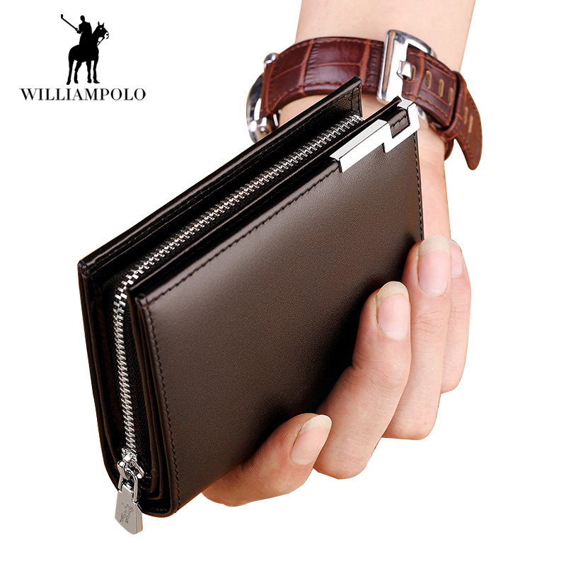 2018 NEW Wallet Men 100% Italy Genuine Leather Short Wallet Vintage Cow Leather Casual Men Wallet Purse Standard Holders Wallets стоимость
