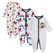 Mother nest Bodysuit 3pieces/lot Autumn Cotton Baby