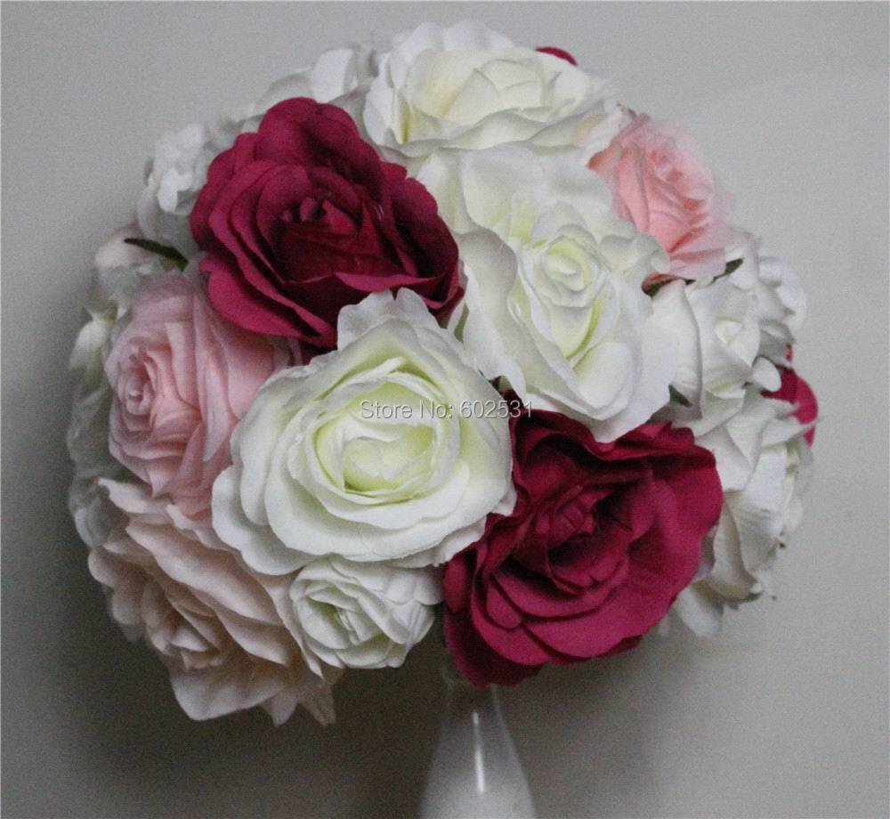SPR Doprava zdarma 10ks / lot svatební cesta vést umělá květina míč svatební stůl květiny středobodem květinové koule dekorace