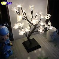 FUMAT Blossom Tree Night Lights Living Room Novelty Plum Blossom Tree Lamp LED Rose Lamps Decoration Lamp Luminarias Night Lamp