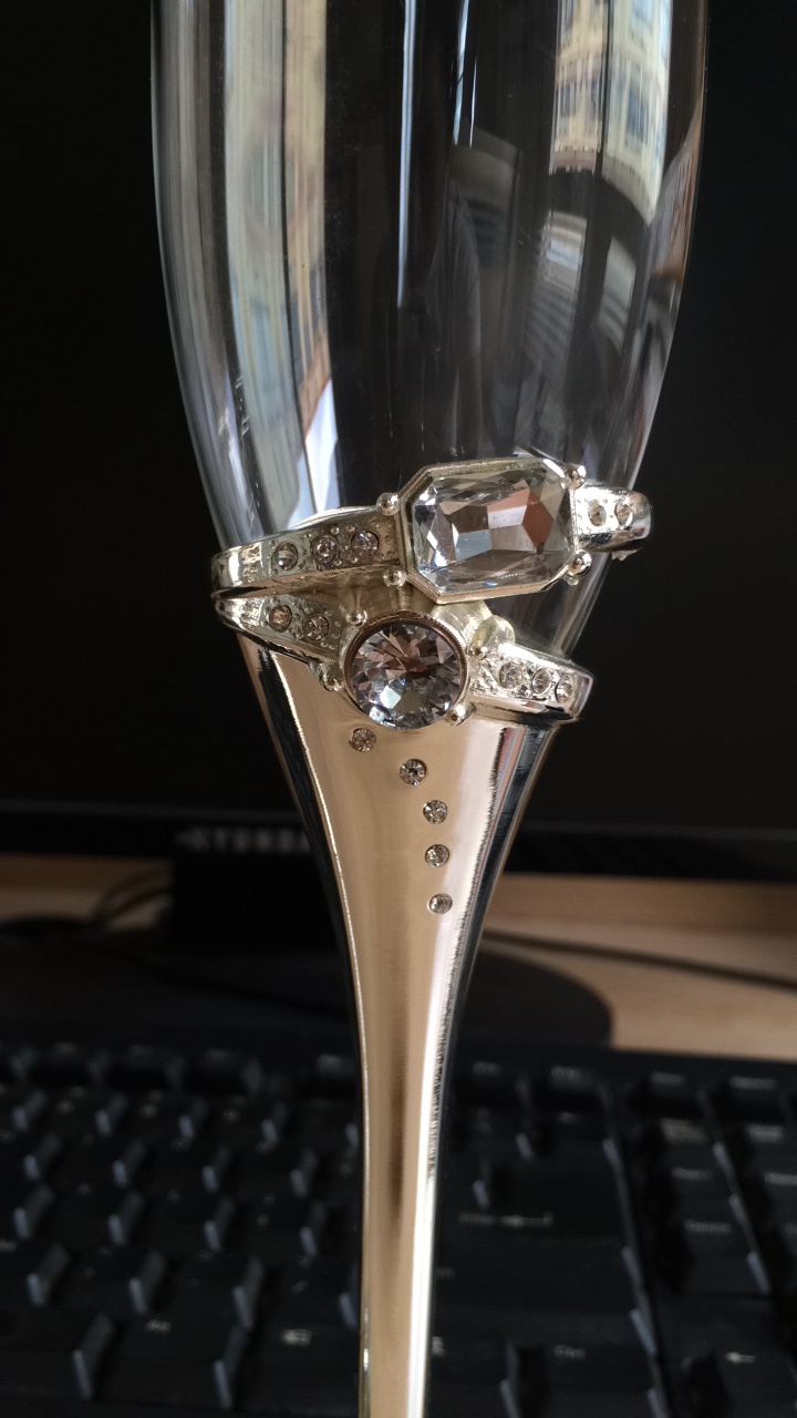 Medium Of Wedding Champagne Flutes