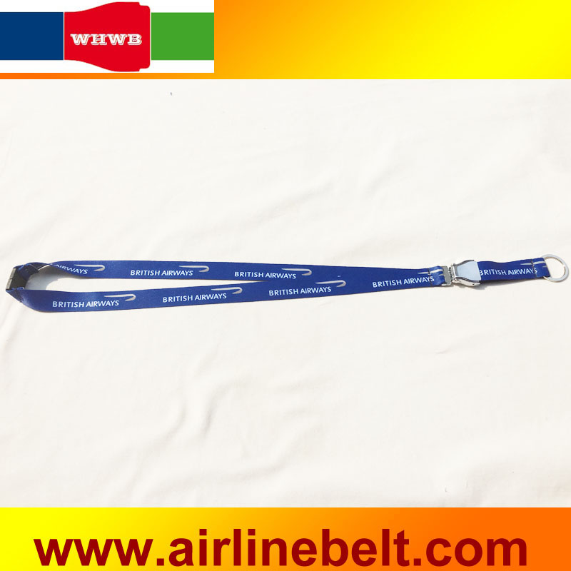 Us 150 25 Offbritish Airways Seat Belt Buckle Strap Lanyard Mobile Phones Usb Badge Holder For Key Id Card Holder Diy Hang Rope Lariat In Mobile
