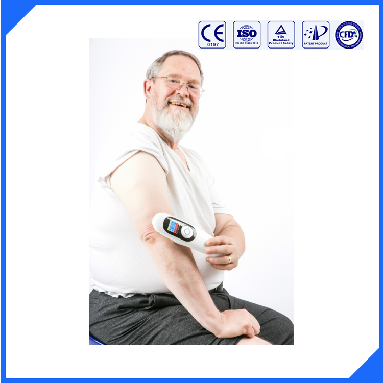 with CE/ROHS support 808nm diode laser and 650nm diode laser therapeutic back pain relief products f3ww dental heal laser diode rechargeable hand held pain relief device
