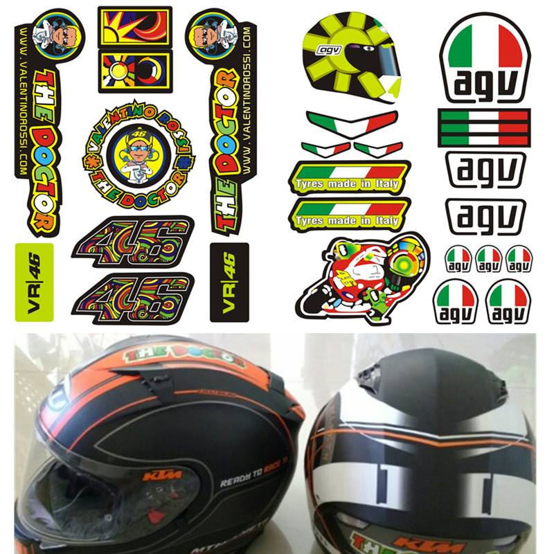 Compare Prices On Valentino Rossi Vr Helmet Online ShoppingBuy - Motorcycle helmet face shield decals