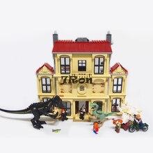 Bela 10928 1046pcs Jurassic World Dinosaur Indoraptor Rampage At Lockwood Estate Compatible Lego 75930 Building Block