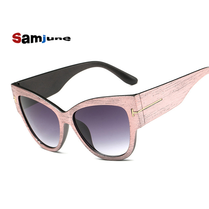 2016 Tom Sun Glasses Coating Solglasögon Gafas De Sol Cat Eye Solglasögon Kvinnor Brand Designer Vintage Oculos Feminin