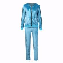autumn Women Tracksuit Sportswear Velvet Zip Up Hooodie Jacket Sweatshirt+sweatpants Running Jogger Casual Outfit Set Sport Suit