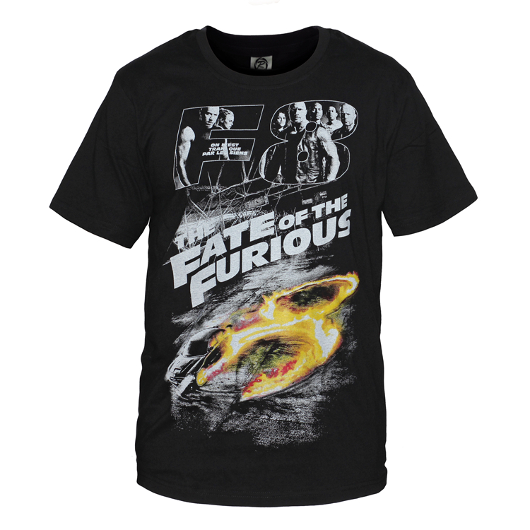 Furious 8 Fashion T Shirt Men Fast Furious 8 Men O-Neck T-Shirt Casual Cotton Short Sleeve Tshirt Printed