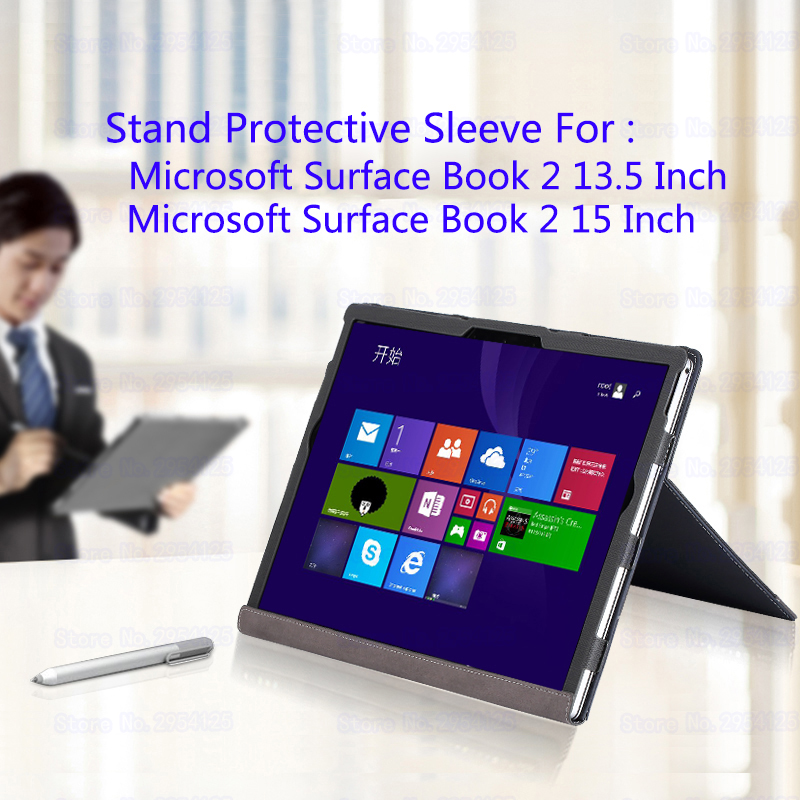 Laptop Stand Case For Microsoft Surface Book 2 13.5 Inch Laptop Sleeve Split Design Cover For 2018 Surface Book 2 15 Inch Stylus genuine leather case for 2017 microsoft surface book 13 5 tablet laptop sleeve creative design for 2015 surface book 13 5