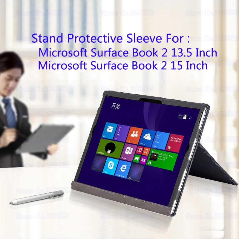 Support d'ordinateur portable étui pour Microsoft 2018 Surface Book 2 15 pouces pochette pour ordinateur portable Split Design couverture pour Surface Book 2 13.5 pouces cadeau