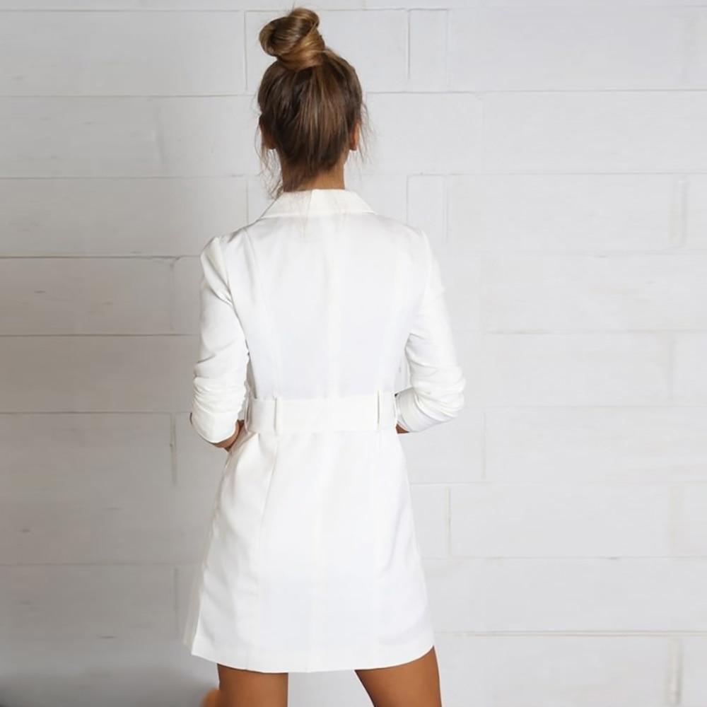 Hyh haoyihui bialy kolor pasa notched blazer panie długi rękaw garnitur blazer eleganckie biuro kobiet jesień marynarka 8