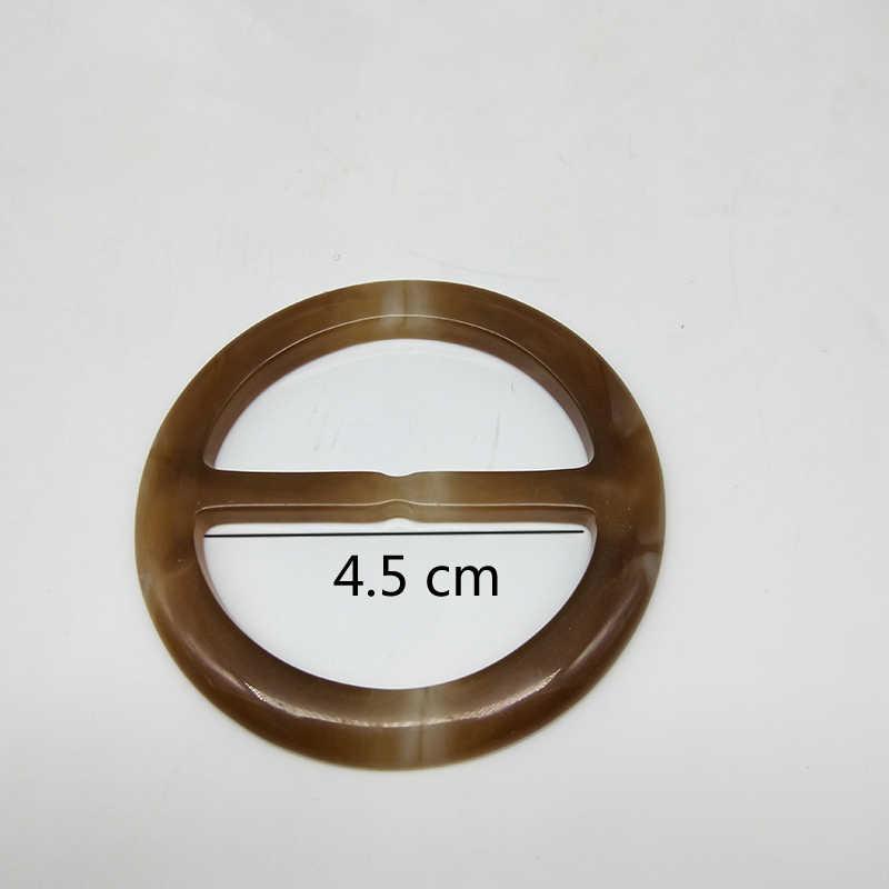 1 PC di Modo di diametro interno 4.5 centimetri con fibbia regolabile nastro con bottoni di abbigliamento di stoccaggio angolo fibbie T-Shirt fibbia