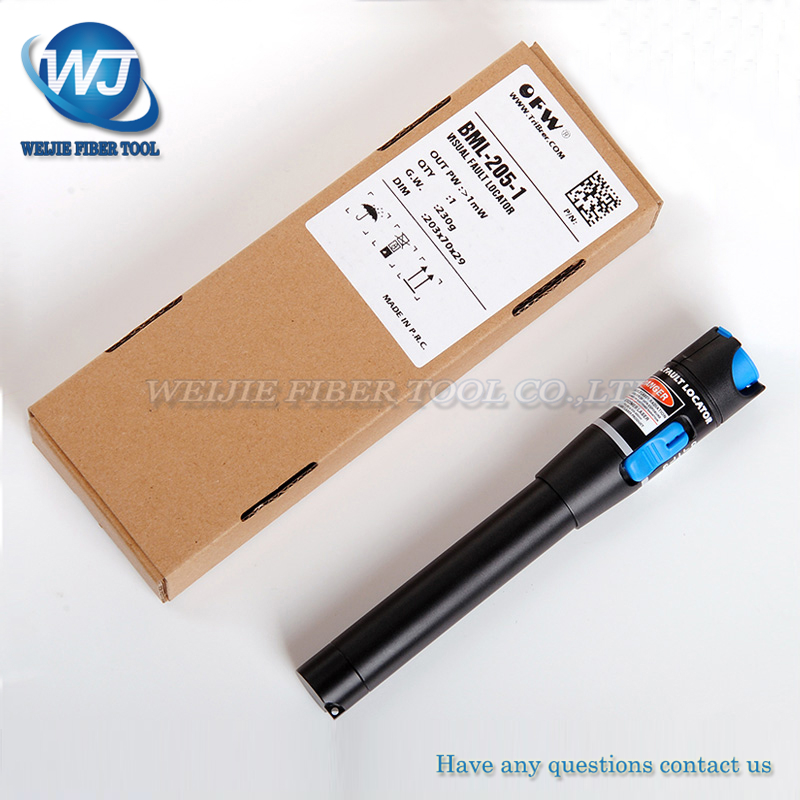 TriBrer BML-205-1 Fiber optic visual fault detector pen out pw : >1mW Visual Fault LocatorTriBrer BML-205-1 Fiber optic visual fault detector pen out pw : >1mW Visual Fault Locator