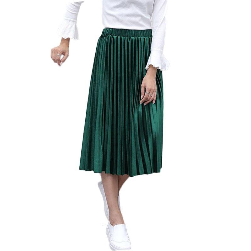 Бархатная юбка зеленая