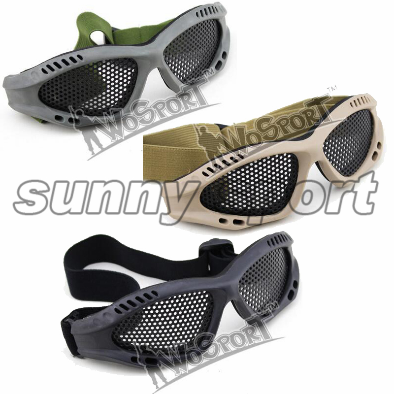 Outdoor Field Eye Protection Steel Mesh Hole Paragraph Tactical Goggles Honorable Person CS Steel Hole Goggle Free Shipping
