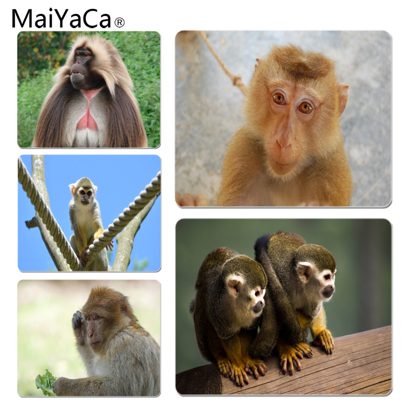 Maiyaca Hot Sales A Cute Monkey Laptop Computer Mousepad Size For 180x220x2mm And 250x290x2mm Rubber Mousemats Do You Want To Buy Some Chinese Native Produce? Mouse & Keyboards