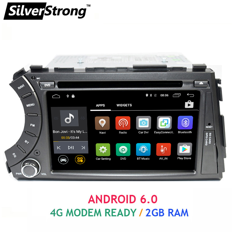 imágenes para FreeShipping 2DIN Android 2 GB RAM Quad Core Android 6.0 de DVD Del Coche Player Para Ssangyong Actyon Kyron con 4G Módem WiFi OBD DAB +