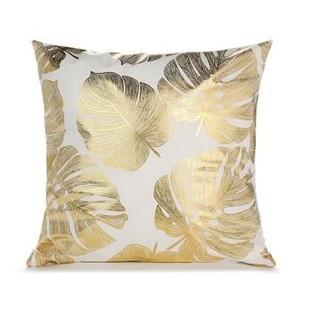 Black white bronzing cushion cover