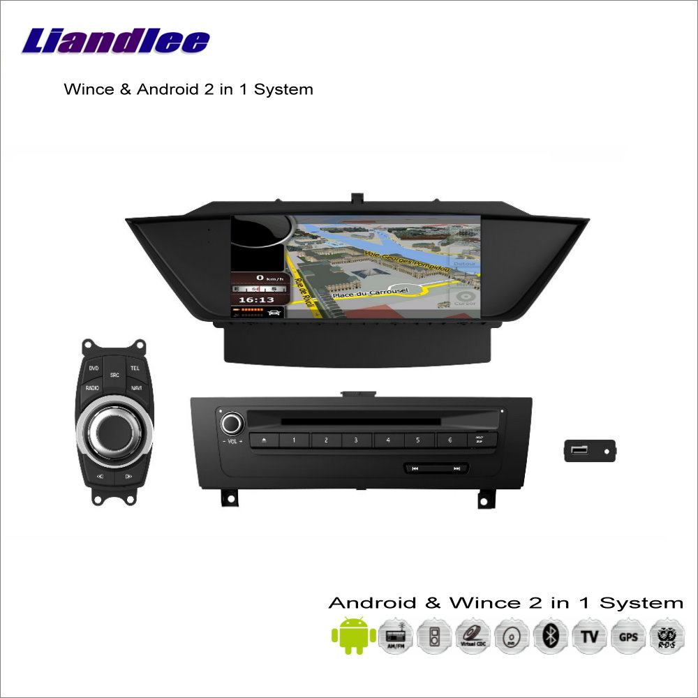 Liandlee For BMW X1 E84 2009~2013 Car Radio Audio Video Stereo CD DVD iPod BT GPS Map Nav Navi Navigation S100 Multimedia System