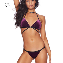 87cb7259cac17 2018 New Arrivals Sexy Bikini Removable Pad Bandage Style Low Waist Swimwear  Women Swimsuit Push Up Bathing Suit In Hot Sale