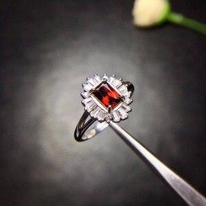 Image 5 - Natuurlijk granaat Ring 925 Zilveren Saffier Blauwe Saffier nieuwe product bijgewerkt elke dag om focus op winkeliers.