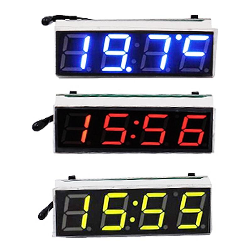 3 in 1 car vehicle digital tube clock te