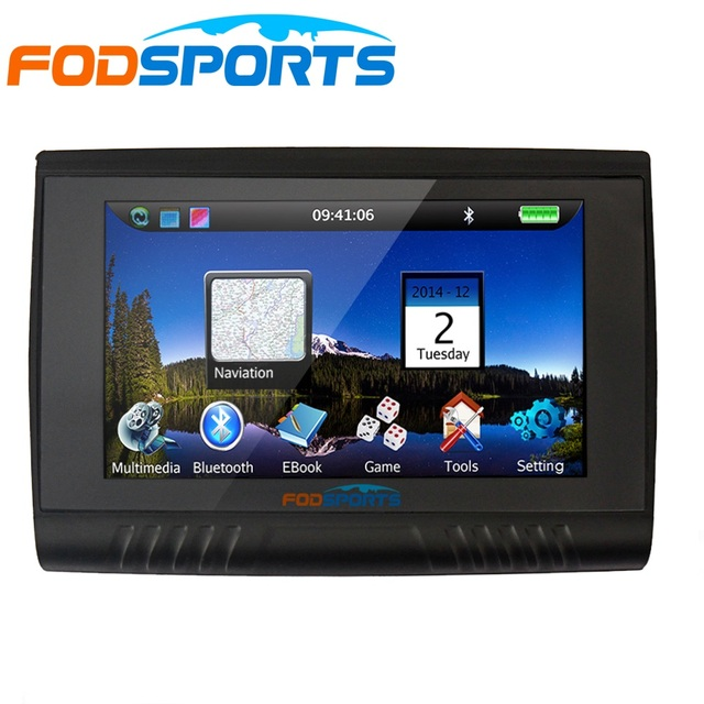 RU Stock,Updated Version 5.0 Inch 256MB RAM 8GB Waterproof Motorcycle Bluetooth GPS Navigation+Free Maps for Most Country