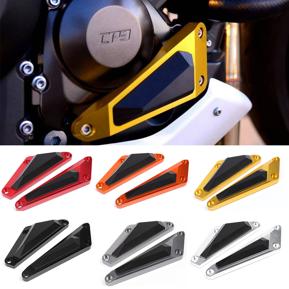 Motorcycle CNC Aluminum Alloy Left Right Frame Engine Case Crash Sliders Cover Protector For Yamaha MT07 FZ07 2014 2015 for yamaha mt 07 fz 07 mt07 cnc aluminum front sprocket cover motorcycle part for yamaha mt07 fz07 2014 2015 2016 100% brand new