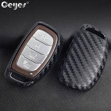 Чехлы для смарт-ключей Ceyes из углеродного волокна, Аксессуары для стайлинга автомобиля Hyundai Verna Sonata Elantra Tucson, защитная оболочка