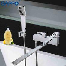 GAPPO 1 Unidades Superior calidad de Montaje En Pared de la bañera grifo del fregadero lavabo del baño casa del golpecito de mezclador torneira con una larga boquilla de ducha de mano G2240