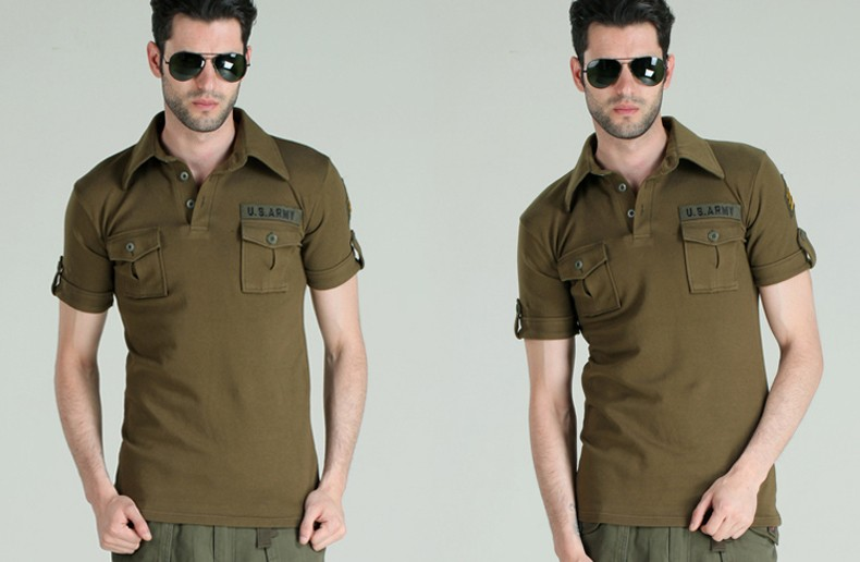 2016 New Style Mens Brand Shirts Army Green Black Short Sleeve Men Outdoor Camp Hiking Cotton Dress Shirts Camisa M-3XL (25)