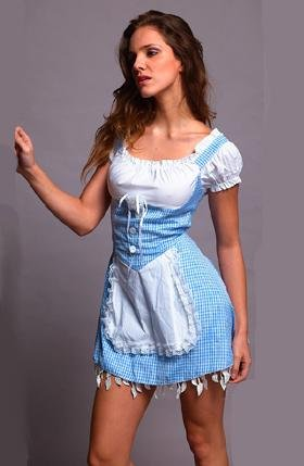 Adult <font><b>Sexy</b></font> <font><b>Blue</b></font> Maid Fancy Dress <font><b>Costume</b></font> <font><b>for</b></font> <font><b>Women</b></font> <font><b>Halloween</b></font> Party Cosplay y8356 image