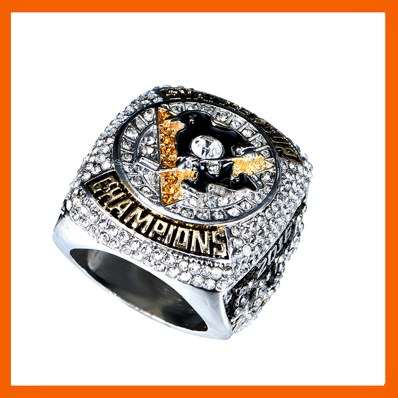 READY MADE 2016 PITTSBURGH PENGUINS <font><b>STANLEY</b></font> <font><b>CUP</b></font> SCORES ENGRAVED CHAMPIONSHIP RING WITH HIGH QUALITY REPLICA MEN JEWELRY