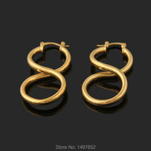 Adixyn New Arrival Smooth Dangle Earrings . Gold Color Fashion Jewelry For Women African Australia Kenya Style(China)