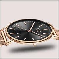 2019 moda moderna rosa ouro relógio de quartzo feminino malha pulseira de aço inoxidável alta qualidade relógio de pulso casual presente para o sexo feminino|Relógios femininos| |  -