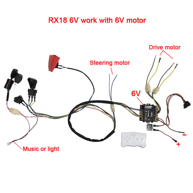 Surprising Children Electric Car Diy Modified Wires And Switch Kit With 2 4G Bluetooth Remote Control Self Made Baby Electric Car 12V Wiring Cloud Scatahouseofspiritnl