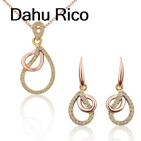 waterdrop bijoux ensemble taki seti white strass bayan sri lanka bijoux bijuteria de luxo i love you to t Dahu Rico jewelry sets