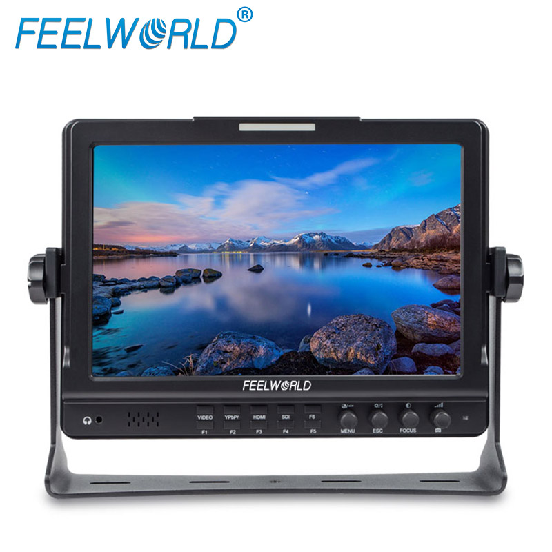 Feelworld 10.1 Inch IPS 1280x800 HDMI 3G-SDI Camera Field Monitor with Peaking Focus Check Field Desktop LCD Monitor FW1018S f450 4 5 inch ips 1280x800 hd 4k field lcd camera monitor with hdmi input output uhd peaking focus and other monitor accessory