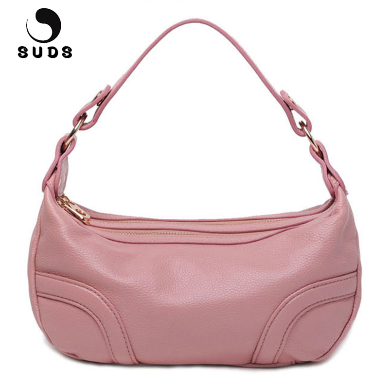 SUDS Brand Women Vintage Genuine Leather Shoulder Bags Female Double zipper Cow Leather Handbag Ladies Solid Traveling Tote BagsSUDS Brand Women Vintage Genuine Leather Shoulder Bags Female Double zipper Cow Leather Handbag Ladies Solid Traveling Tote Bags
