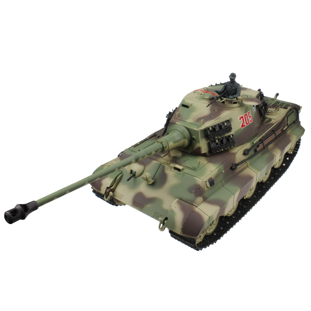 2 4G 1 16 German Army King Tiger Henschel Turret RC Battle Tank Shooting Smoking Sounding