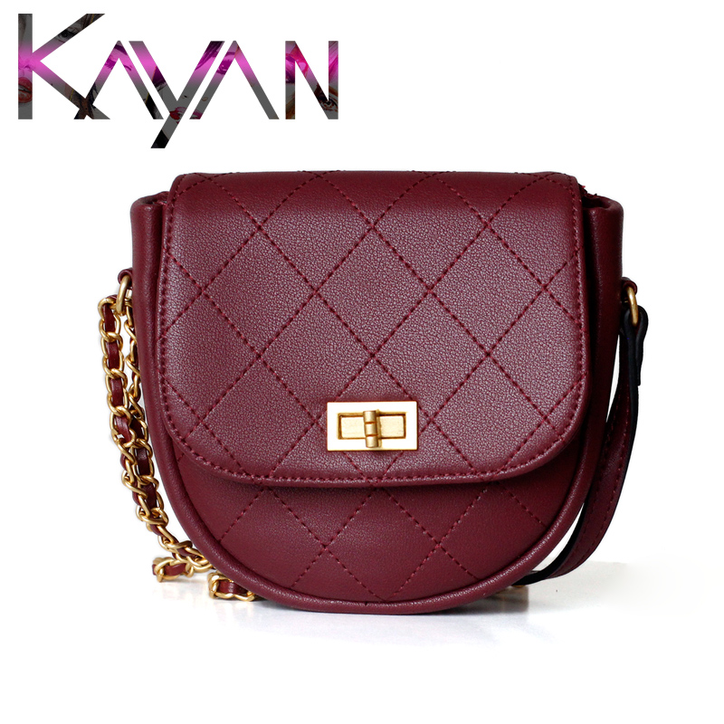 Real Leather Diamond Pattern Shoulder Bag INS Hot Style Chain Flap Mini Joker Crossbody Women