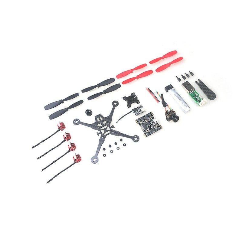 Happymodel Trainer90 Ultra léger 1 S Kit de Drone FPV sans brosse Set Fusion X3 contrôleur de vol OSD 5 ADSHOT ESC 0703 15000KV moteur