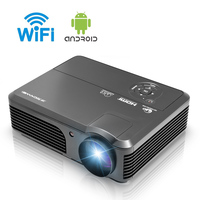 1080P LCD Android WIFI Projector Wireless Home Theater Projector for Home Cinema Backyard Movie Party Game HDMI USB VGA 4200LM