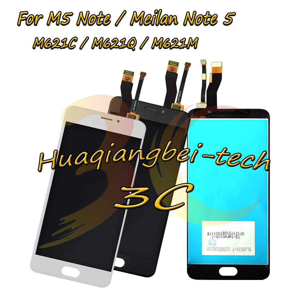 5.5 New For Meizu M5 Note / Meilan Note 5 M621C M621Q M621M Full LCD DIsplay + Touch Screen Digitizer Assembly 100% Tested