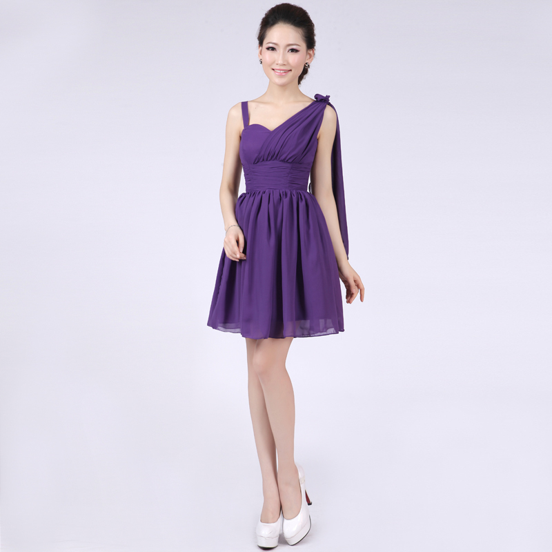 Lc248m roxo real vestidos dama de honra chiffon maid of honor ...