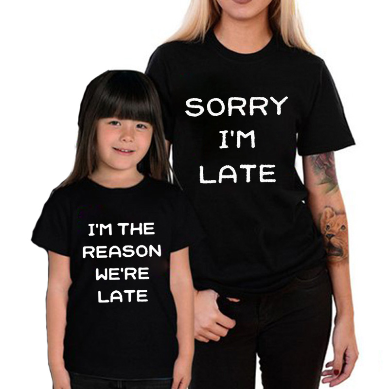 a6e53ec0aa EnjoytheSpirit Couple Tshirt Family Matching Clothes Mommy and Me Women  Kids Funny T Shirt Loose Tee Cute Tops